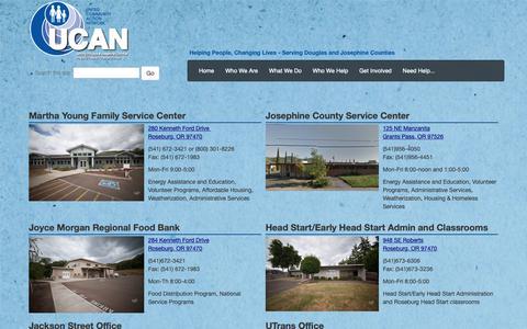 Screenshot of Locations Page ucancap.org - UCAN :: Locations - captured Oct. 18, 2018
