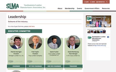 Screenshot of Team Page slma.org - Leadership -  Southeastern Lumber Manufacturer's Association, Inc. - captured Jan. 20, 2018