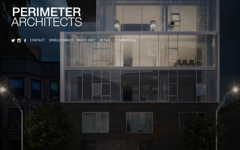 Screenshot of Home Page perimeterarchitects.com - Perimeter Architects - Local Chicago Residential, Retail, and Commercial Architects - captured Dec. 8, 2015
