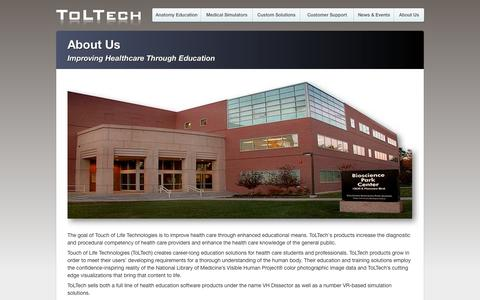 Screenshot of About Page toltech.net - ToLTech - About Us - captured Nov. 5, 2014