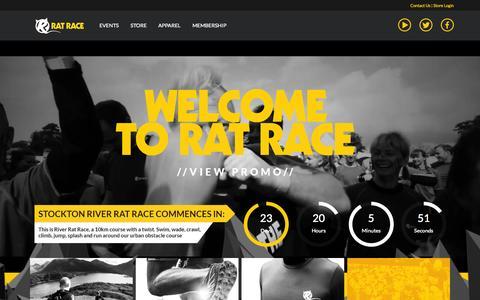 Screenshot of Home Page ratrace.com - Rat Race Adventure Sports - captured Aug. 5, 2015