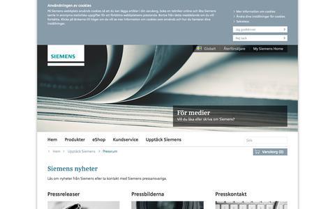 Screenshot of Press Page bsh-group.com - Siemens nyheter och berättelser | Siemens Hushållsprodukter - captured Sept. 7, 2016