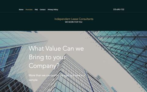 Screenshot of Services Page independentleaseconsultants.com - Services | Independent Lease Consultants - captured July 9, 2018