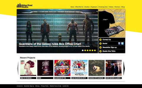 Screenshot of Home Page abbeyroad.com - Abbey Road - captured Sept. 19, 2014