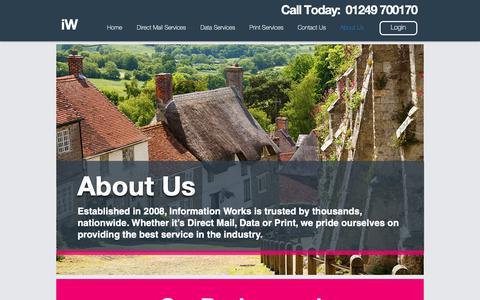 Screenshot of About Page informationworks.co.uk - About Us | Information Works - captured Nov. 6, 2018