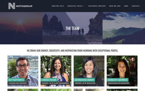 Screenshot of Team Page notogroup.com - Team - Notogroup - captured Oct. 18, 2018