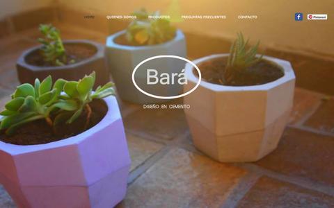 Screenshot of Home Page bara3.com.ar - Bará Diseño - captured Oct. 5, 2014