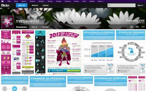 Screenshot of Flickr Page flickr.com - Flickr: mediaventilo's Photostream - captured Oct. 27, 2014