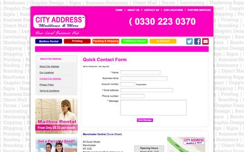 Screenshot of Contact Page cityaddress.co.uk - Contact Us - captured Sept. 25, 2014