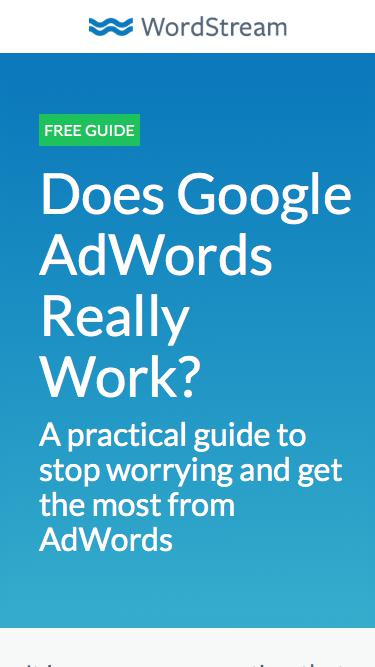Does Google AdWords Really Work