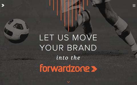 Screenshot of Home Page forwardzone.com - Forwardzone | Let Us Move Your Brand into the Forwardzone - captured Oct. 14, 2017