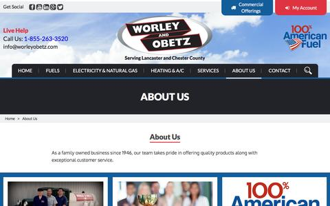 Screenshot of About Page worleyobetz.com - About Us | Worley & Obetz - captured Dec. 3, 2016