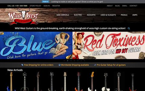 Screenshot of Home Page wildwestguitars.com - Wild West Guitars - Paul Reed Smith Fender Suhr Ernie Ball Music Man Jackson Duesenberg - #1 PRS Private Stock Dealer - captured Jan. 22, 2015