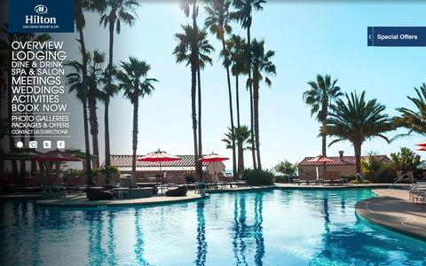 Screenshot of Home Page sandiegohilton.com - San Diego Resorts | Resorts in San Diego | Hilton San Diego - captured Sept. 23, 2014