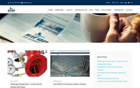 Screenshot of Press Page siron.eu - News about projects, products and events | SIRON Fire Protection - captured Sept. 30, 2018