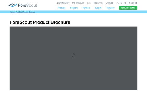 ForeScout Product Brochure - ForeScout