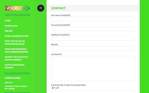 Screenshot of Contact Page vooruit.biz - Contact | Vooruit - captured Oct. 7, 2014