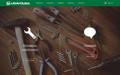 Screenshot of Services Page lusavouga.com - Services | Lusavouga - captured Sept. 24, 2018
