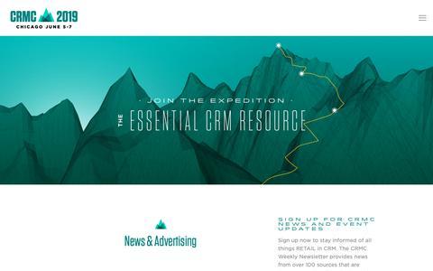 Screenshot of Press Page thecrmc.com - News — CRMC 2019 - captured Nov. 9, 2018