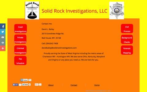 Screenshot of Contact Page solidrockinvestigations.com - Solid Rock Investigations Contact - captured Oct. 7, 2014