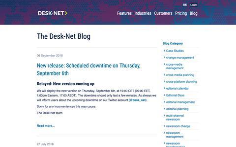 Screenshot of Blog desk-net.com - The Desk-Net Blog | Desk-Net - captured Oct. 8, 2018