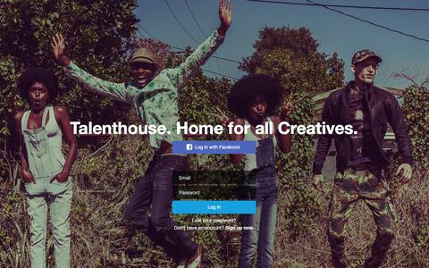 Screenshot of Login Page talenthouse.com - Talenthouse - captured Feb. 7, 2016