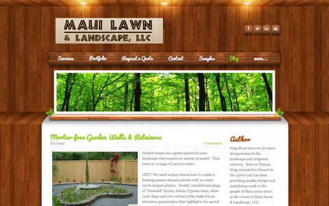 Screenshot of Blog mauilawn.net - Maui  Lawn & Landscape,  LLC - Maui Lawn - Blog - captured Nov. 3, 2014