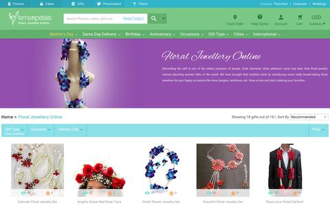 Screenshot of fnp.com - Floral Jewellery Online | Real Flower Jewelry - Ferns N Petals - captured May 11, 2017