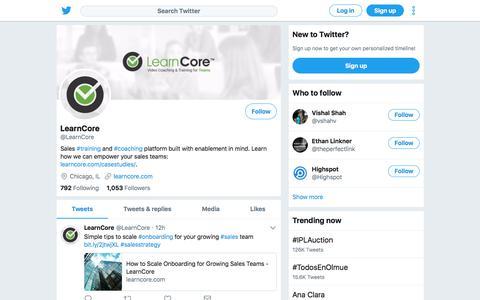 Tweets by LearnCore (@LearnCore) – Twitter