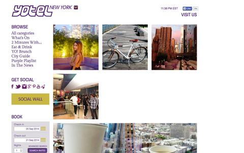 Screenshot of Blog yotelnewyork.com - YOTEL Lifestyle Blog | NYC Blogs | YOTEL New York - captured Sept. 23, 2014