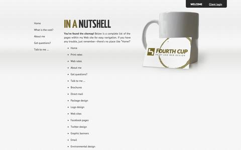 Screenshot of Site Map Page fourthcup.org - Fourth Cup : Contact me today! - captured Oct. 6, 2014