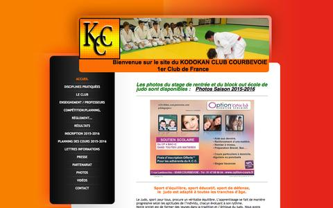 Screenshot of Home Page kodokan-club-courbevoie-judo.fr - KODOKAN CLUB COURBEVOIE - captured Oct. 16, 2015