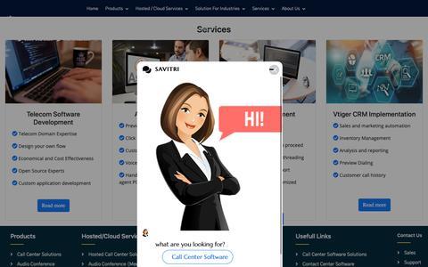 Screenshot of Services Page deepijatel.com - Call Center Solutions | Call Center Software | IVR Software | Call Center Dialer - captured June 22, 2019