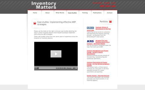 Screenshot of Case Studies Page inventorymatters.co.uk - Inventory Matters: Case studies: implementing effective MRP strategies - captured Sept. 30, 2014
