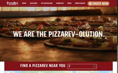 Screenshot of Locations Page pizzarev.com - Locations - PizzaRev - captured July 19, 2018