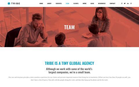 Screenshot of Team Page tribeinc.com - Team - Tribeinc - captured Nov. 18, 2018