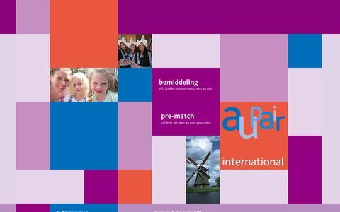 Screenshot of Home Page aupairinternational.nl - Landingspagina - Au Pair InternationalAu Pair International - captured Sept. 14, 2015