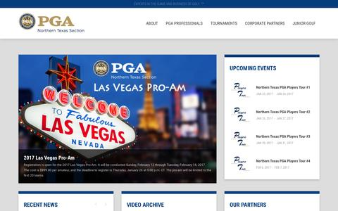 Screenshot of Home Page Terms Page ntpga.com - Northern Texas PGA - captured Dec. 10, 2016