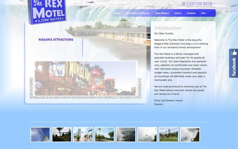 Screenshot of Home Page rexmotel.com - Rex Motel - Niagara Falls Motel. Law Rates. - captured Oct. 7, 2015