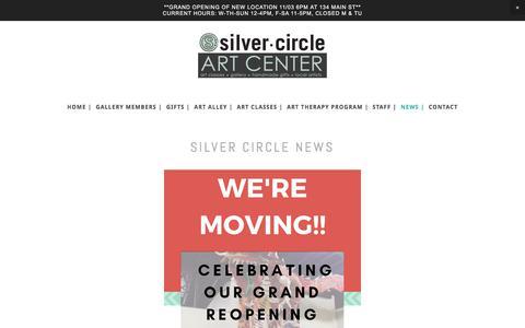 Screenshot of Press Page silvercirclegallery.com - News | — Silver Circle - captured Nov. 4, 2017