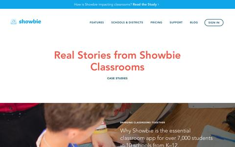Screenshot of Case Studies Page showbie.com - Case Studies – Showbie - captured Nov. 29, 2016