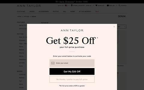 Women's Petite Jeans: Flare, Skinny, Ankle, & More : ANN TAYLOR