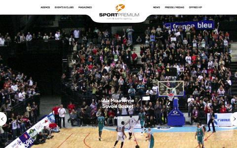 Screenshot of Home Page sportpremium.com - Sport Premium, Agence de marketing sportif - captured Sept. 30, 2014