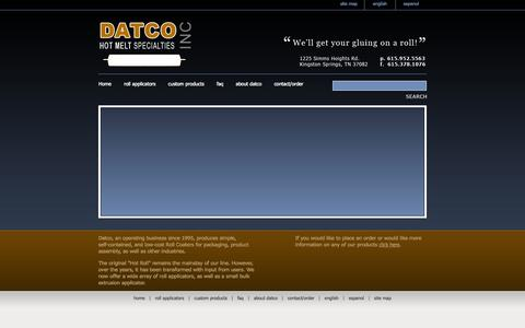 Screenshot of Home Page datcoinc.com - Datco Inc - Home - captured Sept. 30, 2014