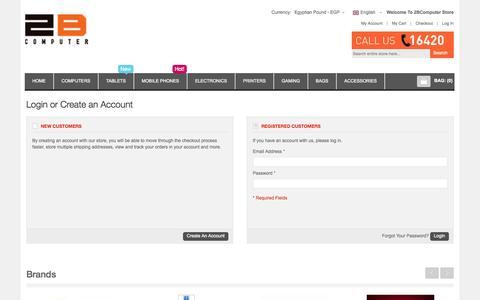 Screenshot of Login Page 2bcomputer.com - Customer Login - captured Sept. 24, 2014
