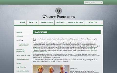 Screenshot of Team Page wheatonfranciscan.org - Leadership - Wheaton Franciscan - captured Feb. 24, 2016