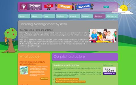 Screenshot of Pricing Page primarysign.com - Sign Language for Children - Primary Sign - captured Feb. 4, 2016