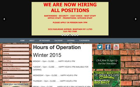 Screenshot of Hours Page muls.com - Hours of Operation - captured Feb. 15, 2016