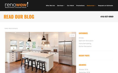 Screenshot of Blog renowow.ca - Read Our Blog   renoWOW! - captured Oct. 20, 2018