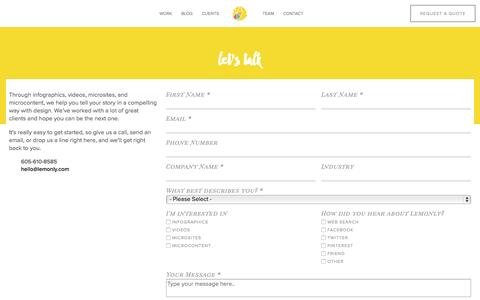 Screenshot of lemonly.com - Need visual marketing? We want to hear from you! - captured Oct. 2, 2015